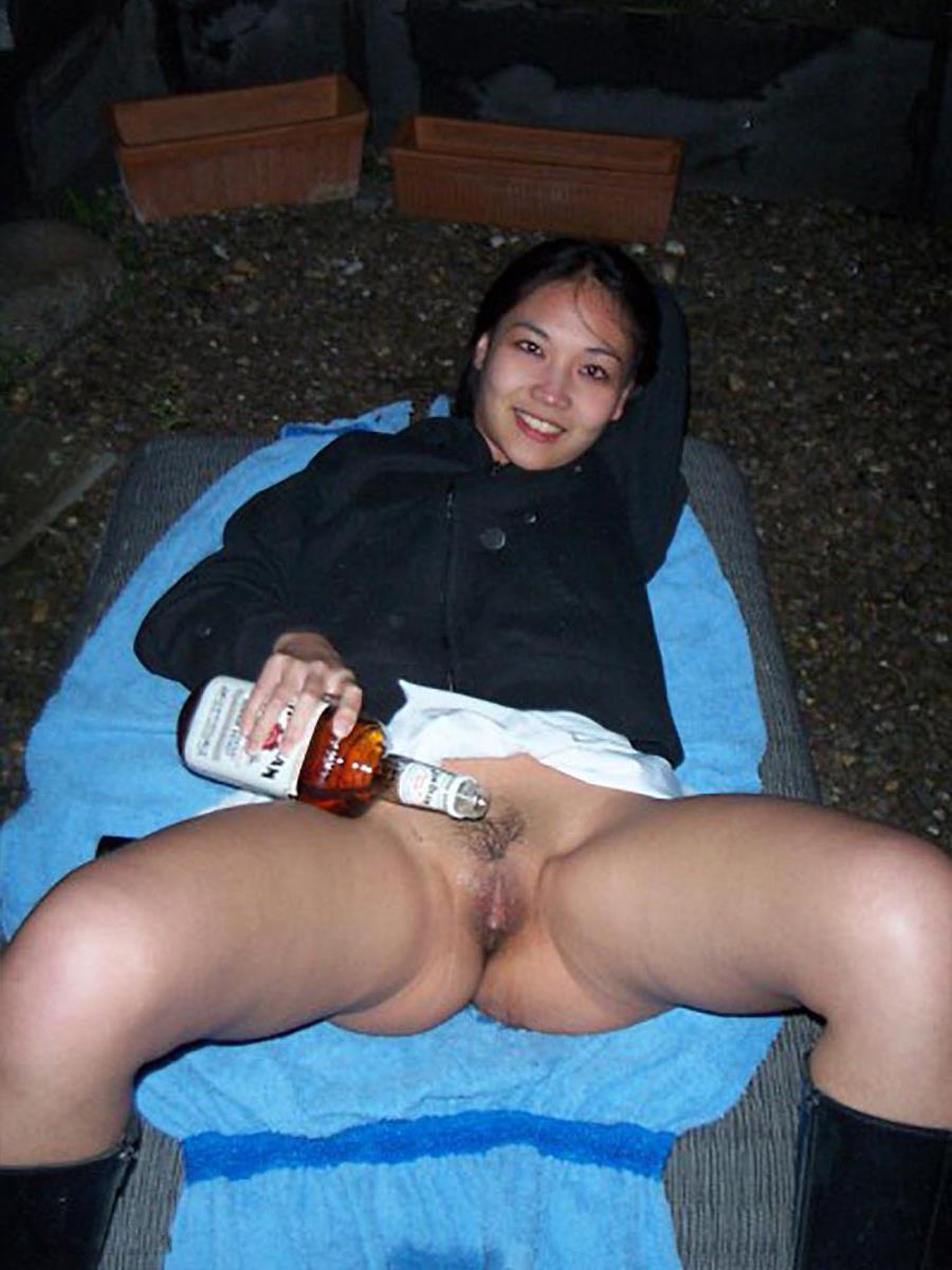 Drunk Girl On Picnic Table