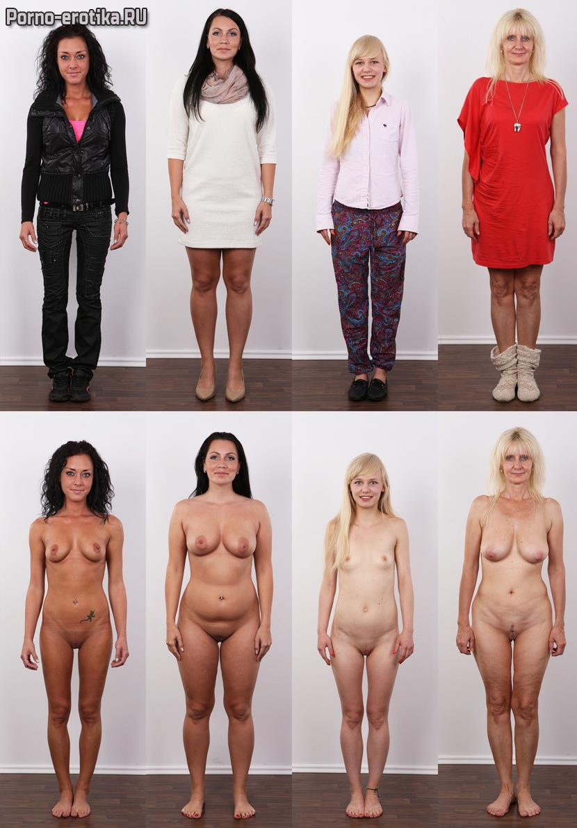 Русские девушки в одежде и без нее