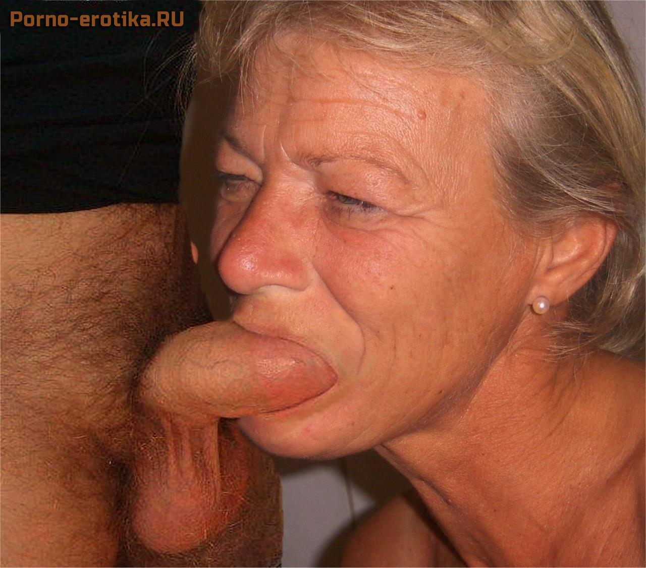 Old grannies sucking young cock — 13