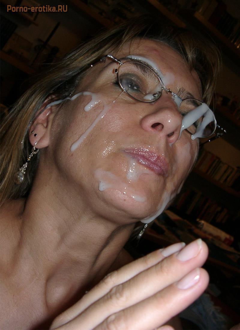 Фото сперма на лице зрелых фото крупным планом