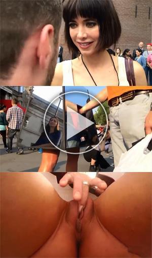 Дает потрогать пизду прохожим на улице | Эротические порно ролики